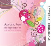 valentine's day greeting card ... | Shutterstock .eps vector #94651177