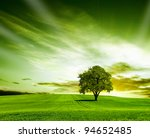 Stock photo green landscape 94652485