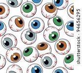 Eyeballs Seamless Background....