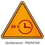 vector triangular road sign...   Shutterstock .eps vector #94656760