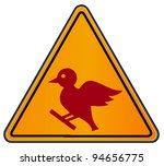 vector triangular road sign...   Shutterstock .eps vector #94656775