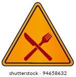 vector triangular road sign...   Shutterstock .eps vector #94658632