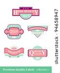 premium quality labels   five... | Shutterstock .eps vector #94658947