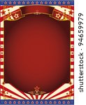 red and white circus background.... | Shutterstock .eps vector #94659979