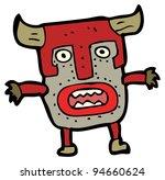 scary mask cartoon | Shutterstock . vector #94660624