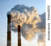 air pollution by smoke coming... | Shutterstock . vector #94664833