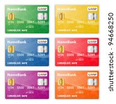 set of colorful plastic credit... | Shutterstock .eps vector #94668250
