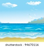 seaside raster copy of vector... | Shutterstock . vector #94670116