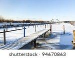 Grossenbrode Harbor In Winter ...