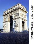 vertical view of the arc de...   Shutterstock . vector #94677430