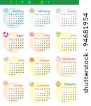 calendar 2012 with zodiac signs ... | Shutterstock .eps vector #94681954