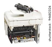 Broken Laser Printer Isolated...