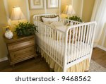 baby bedroom with a crib  toys... | Shutterstock . vector #9468562