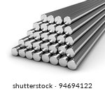 round steel bars isolated on... | Shutterstock . vector #94694122