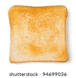 Single Toast Against White...
