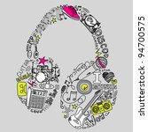 music doodles | Shutterstock .eps vector #94700575