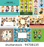 happy office worker card | Shutterstock .eps vector #94708135