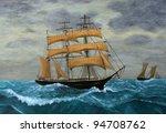 Original Artwork  Clipper Ship...