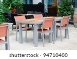 casual al fresco dining area | Shutterstock . vector #94710400