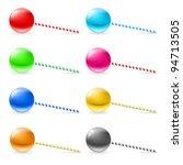 Raster version. Set of lollipops. Illustration on white background for design - stock photo