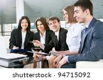 successful and happy business... | Shutterstock . vector #94715092