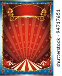 blue and red circus background. ... | Shutterstock .eps vector #94717651