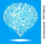 social media  communication in... | Shutterstock .eps vector #94718611