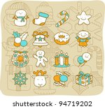 mocha series   christmas icon... | Shutterstock .eps vector #94719202