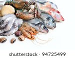 fresh catch of fish and other... | Shutterstock . vector #94725499