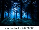 Night Scene Of Autumn Forest I...