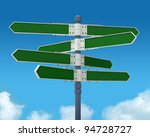 blank direction sign with 8... | Shutterstock . vector #94728727