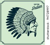 native american head | Shutterstock .eps vector #94728997