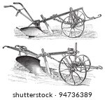 Old Ploughs  Made In Germany    ...