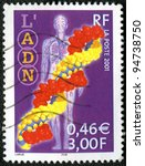 FRANCE - CIRCA 2001: A stamp printed in France shows DNA, series, circa 2001 - stock photo