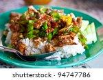Rice And Curry  Stir Basil ...