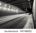 Tunnel Road Area At Night With...