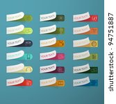 set of multicolored labels | Shutterstock .eps vector #94751887
