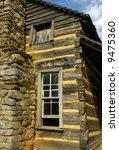 Historic Log Cabin in Cades Cove, TN - stock photo