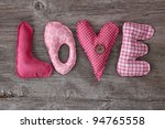 Letters Love On Wooden...