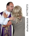 Small photo of a catholic priest in love with his girlfriend