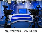 tv news studio with camera and... | Shutterstock . vector #94783030