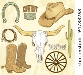 wild west set | Shutterstock .eps vector #94788268