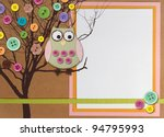 Spring Time Tree With Owl And...