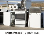 kitchen appliance garbage on a... | Shutterstock . vector #94804468