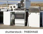 kitchen appliance garbage on a... | Shutterstock . vector #94804468