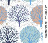 vector trees seamless pattern   Shutterstock .eps vector #94806619