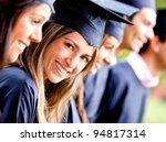 woman standing out from a... | Shutterstock . vector #94817314