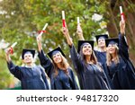group of successful students on ... | Shutterstock . vector #94817320