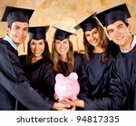 graduate students holding a... | Shutterstock . vector #94817335