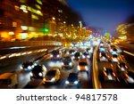 car traffic at night. motion... | Shutterstock . vector #94817578